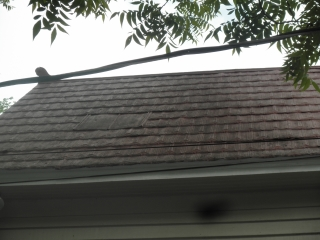Weaken area of roof with pin holes