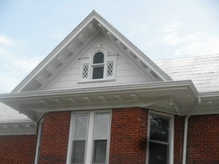 Gray Metal Shingles Preserved In Traditional Style Roof