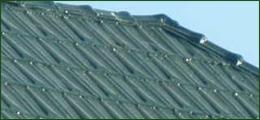Restoration green tin shingle from National Company